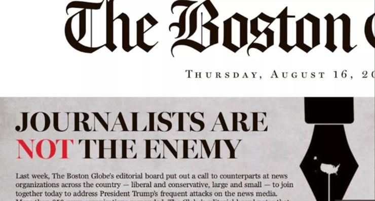 """""""La prensa no es enemigo"""" reprochan más de 350 diarios a Trump"""