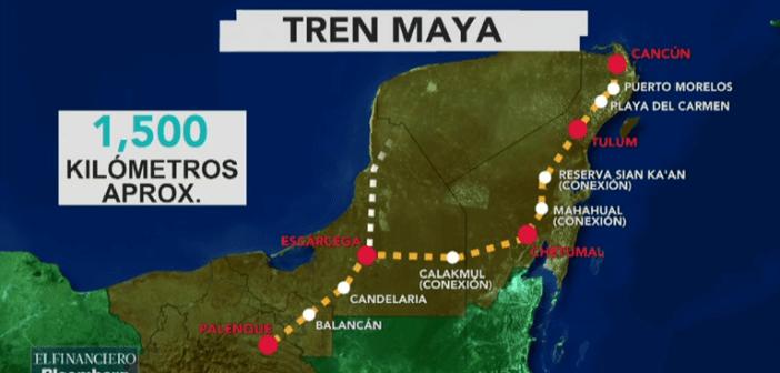 Se iniciará en abril la construcción de Tren Maya, anuncia AMLO