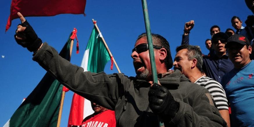 No a la invasión, primero México: protestan contra migrantes en Tijuana
