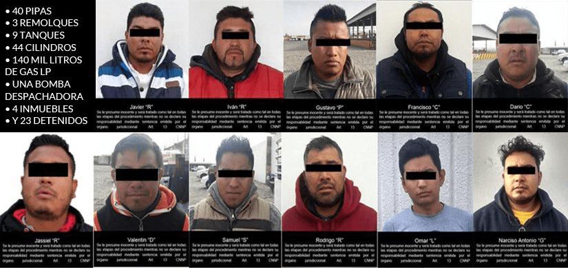Capturan ejército de huachicoleros en Puebla con 40 pipas de gas