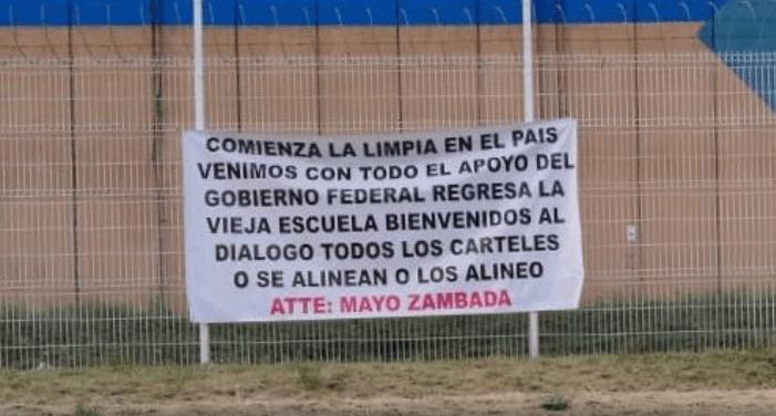 """Aparecen en Jalisco narcomantas atribuidas al """"Mayo"""" Zambada"""