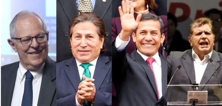 Odebrecht llevó a la justicia a 4 expresidentes de Perú