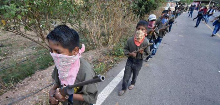 Indígenas arman a sus niños en Chilapa para enfrentar al crimen