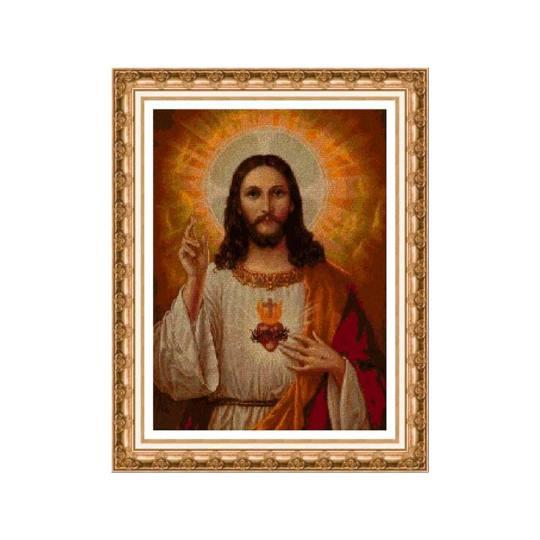 Kits de punto de cruz religiosos: Jesucristo