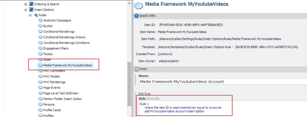 A Youtube Connector for Sitecore Media Framework Part 3 – Branch and Command Templates (3/6)