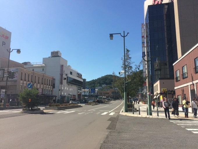 小樽駅前方向