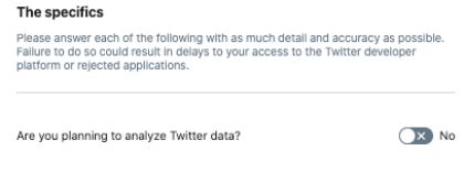 twitter developer account analyze