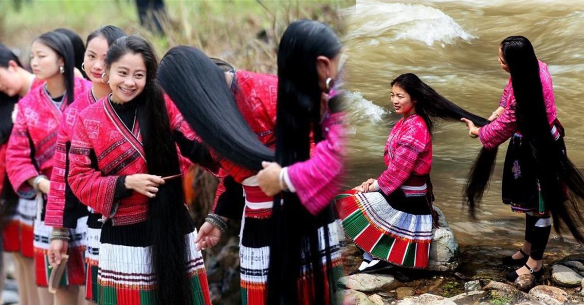 रातो ड्रेसमा 'लामो कपाल'मा सजिने युवतीहरूको गाँउ ! (फोटो फिचर)