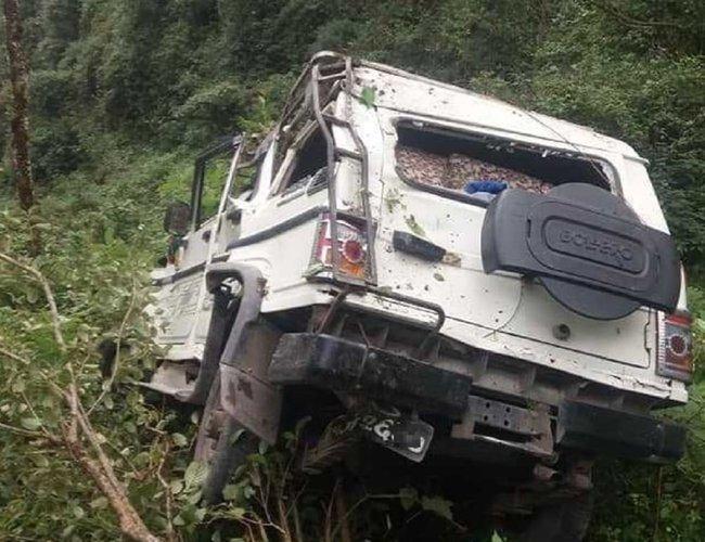 रुकुममा जन्ती बोकेको जीप दुर्घटना, चार जनाको मृत्यु