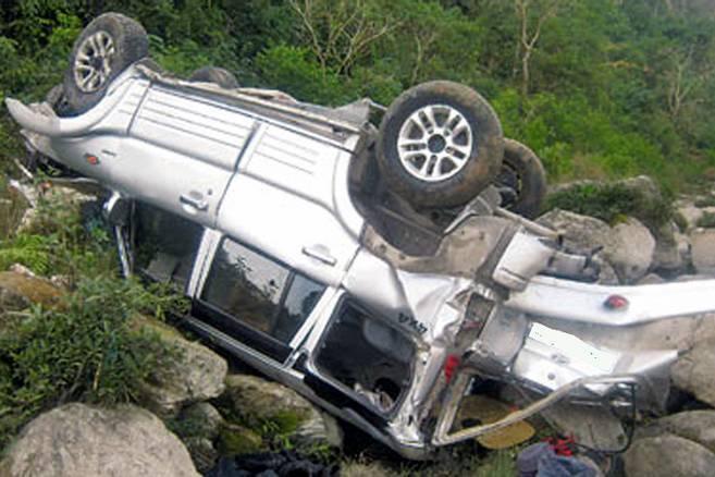 पोखरामा जिप दुर्घटना हुँदा २ जनाको मृत्यु