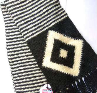 Diamond Scarf White Black