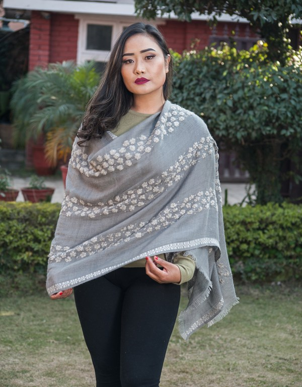 Hand Embroidery Cashmere Shawl