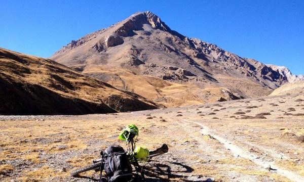 Mountain biking in the Dolpa region.