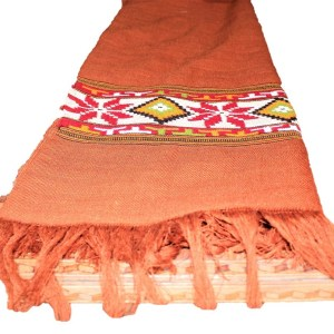 Kullu Wool Women Shawl-Maroon Color with Fine Embroidery