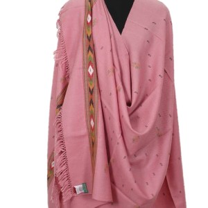 Pure Handloom Shawl Pure Wool Pink Color for Women