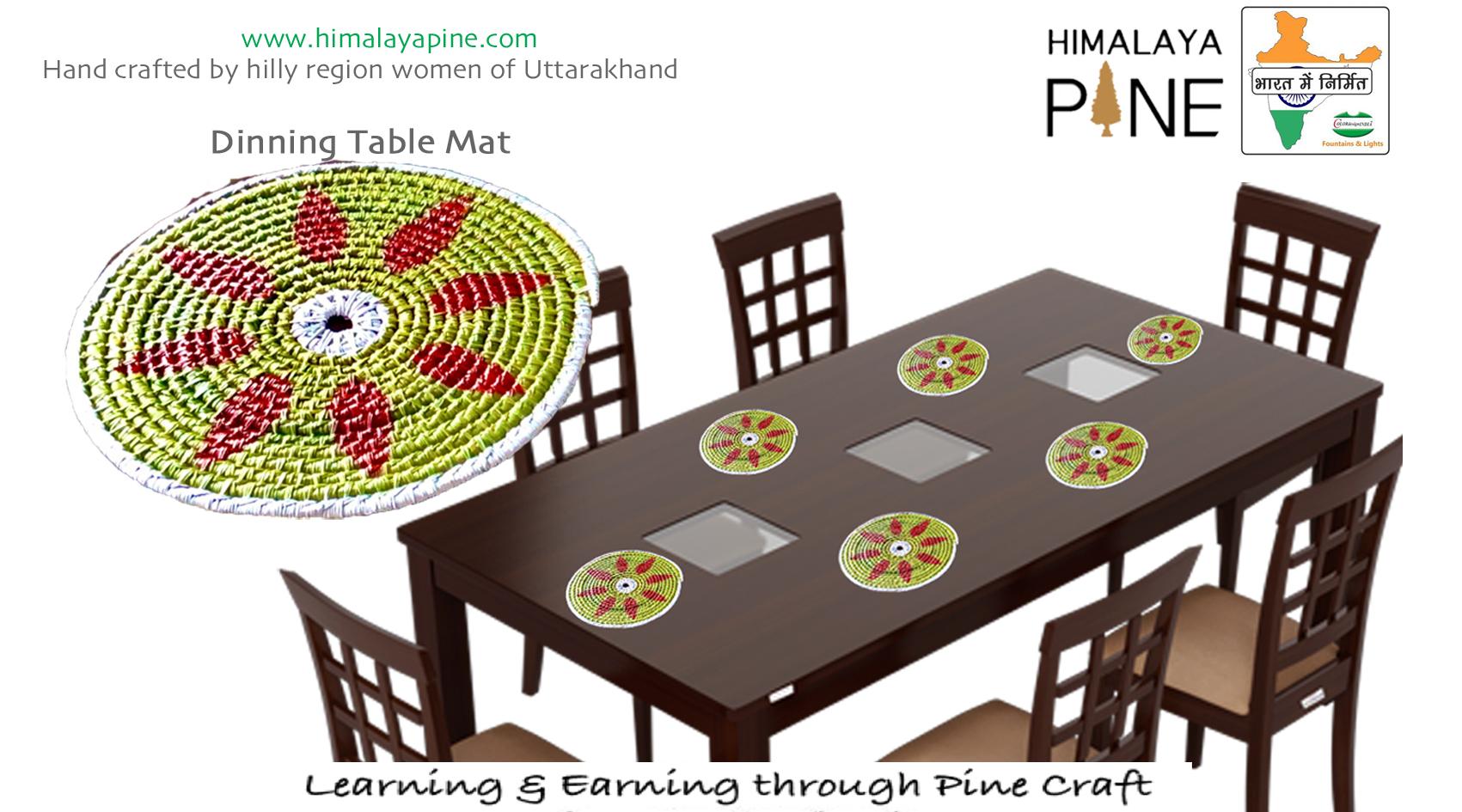 Himalaya Pine Dining Table Mat Set Of 6 Pcs Himalaya Pine