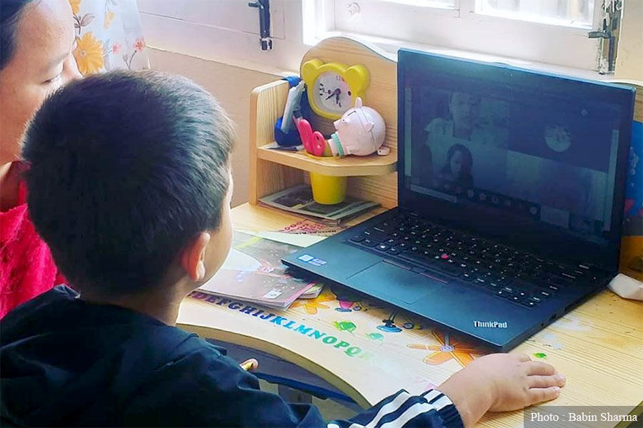 The government allows boarding schools to charge for online classes