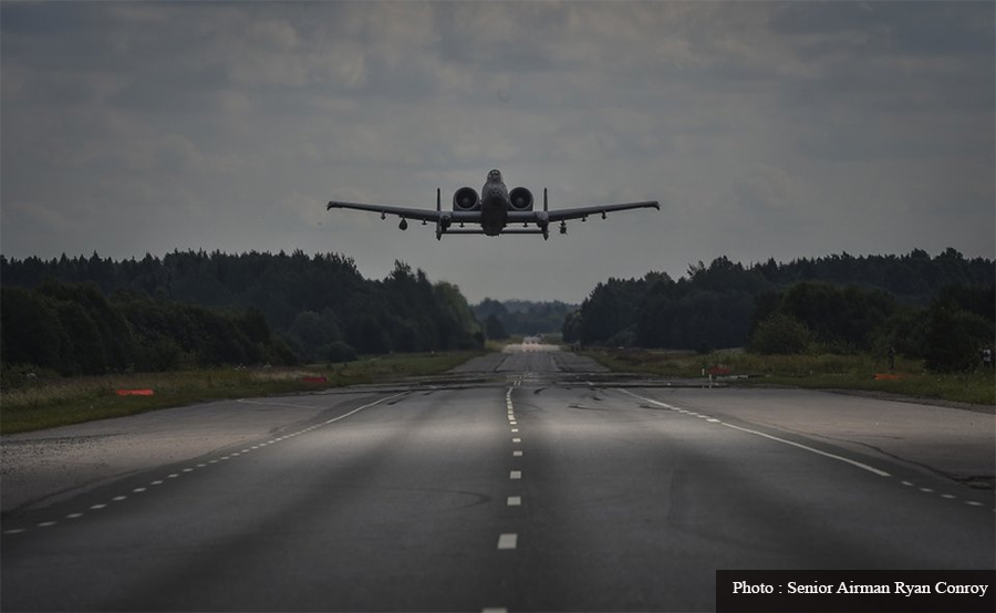 Where is the government's plan to build an emergency runway on the road?