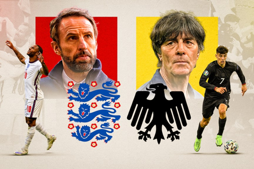 The long-awaited clash between England and Germany in the Euro Cup