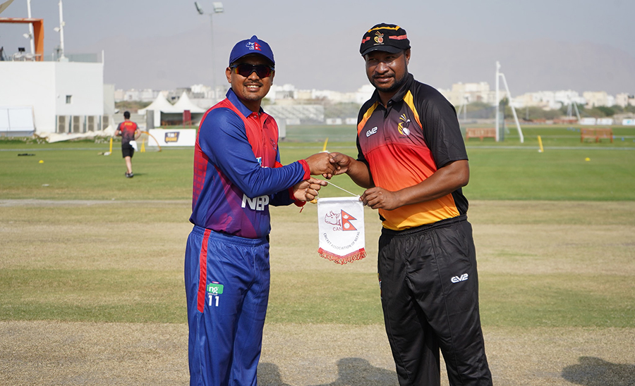 Nepal is playing day-night one-day match against PNG today.