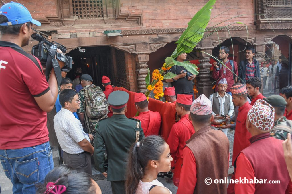 Flowers will be brought to Hanuman Dhoka today at 4.30 pm