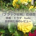 ブラック校則の映画・ドラマ・huluを観たレビュー