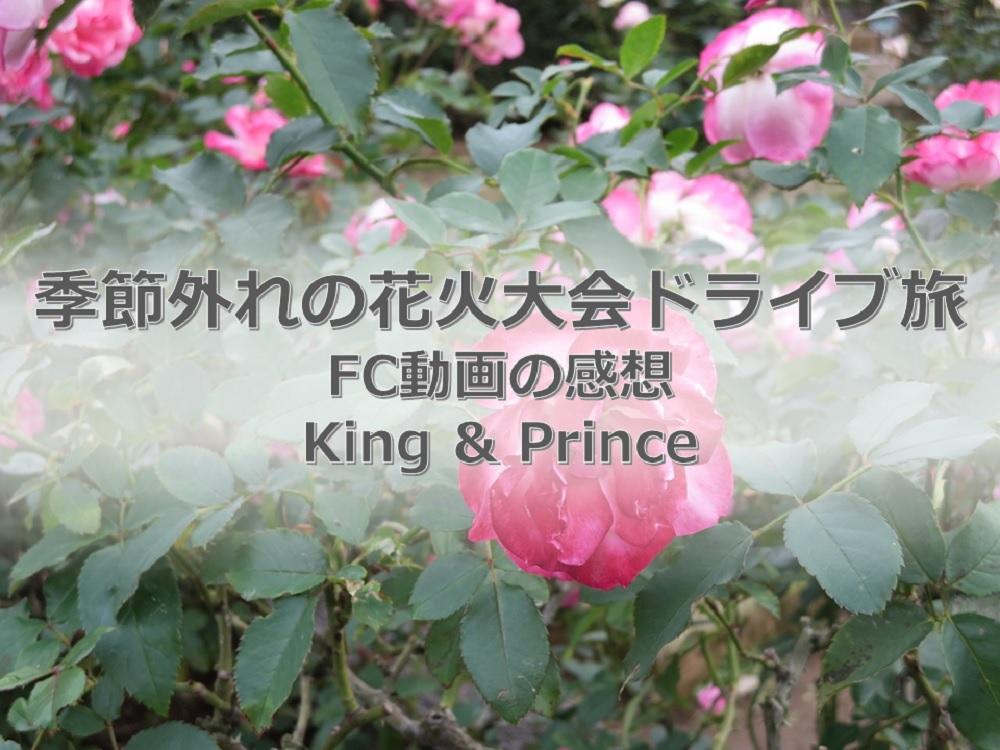 神企画。車を運転するKing & Prince。キンプリのFC動画「ドライブ旅」の感想