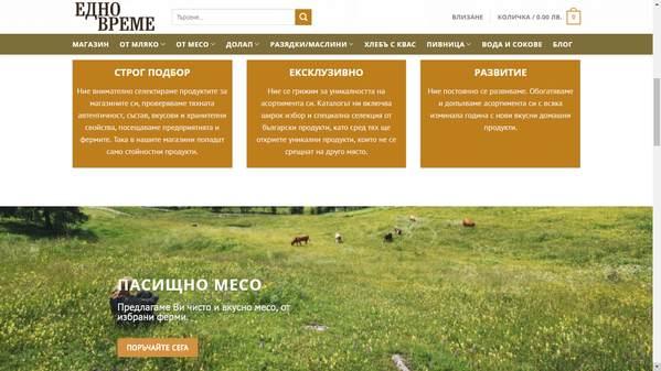 Портфолио – съдържание за сайт натурални хранителни продукти