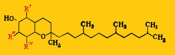 витамины Е формула