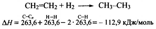 химические свойстваалкенов гидрирование этилена