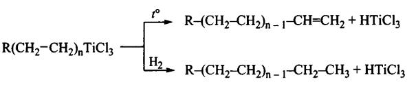 координационная полимеризация алкенов обрыв цепи