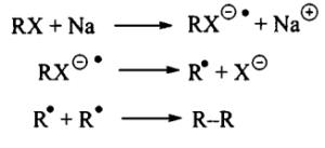 реакция Вюрца с промежуточным анион-радикалом