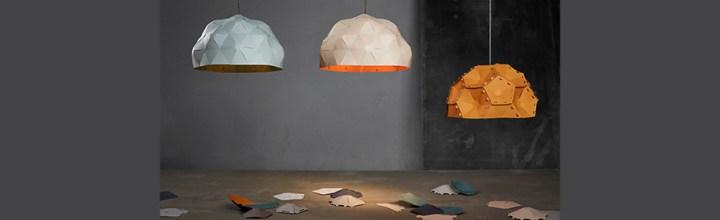 Krafla – vulkan-inspirerede lamper i papir.