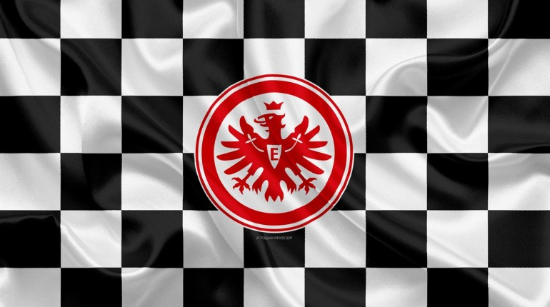 eintracht-frankfurt-4k-logo-creative-art-black-and-white-checkered-flag-himnode.com-letra-lyrics