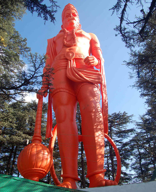 Hanuman-at-the-Jakhu-temple