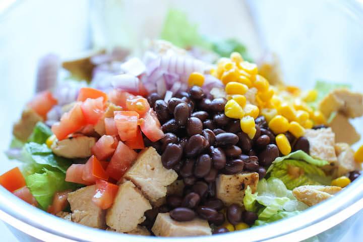 EASY BBQ Chicken Salad RECIPE