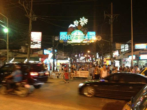 The famous Bangla Road in Patong