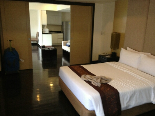 Our spacious apartment at Abloom Serviced Apartments