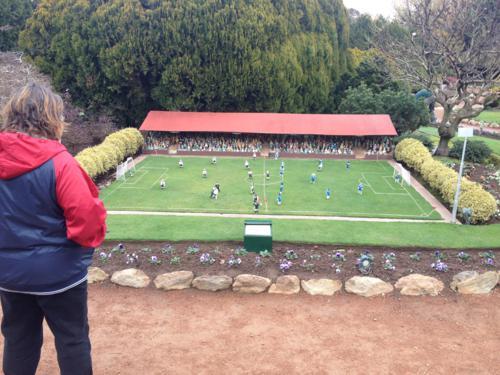 A minature soccer match