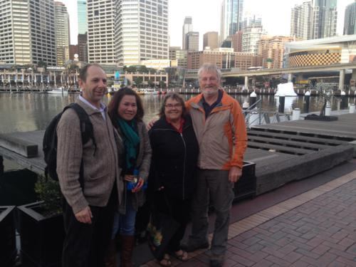 With Corrado and Han in Darling Harbour