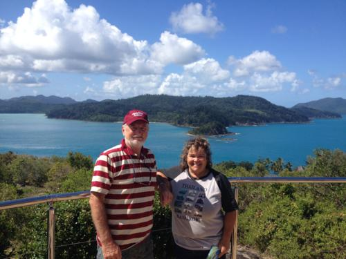Overlooking Fitzalan Passage between Hamilton and Whitsunday Islands