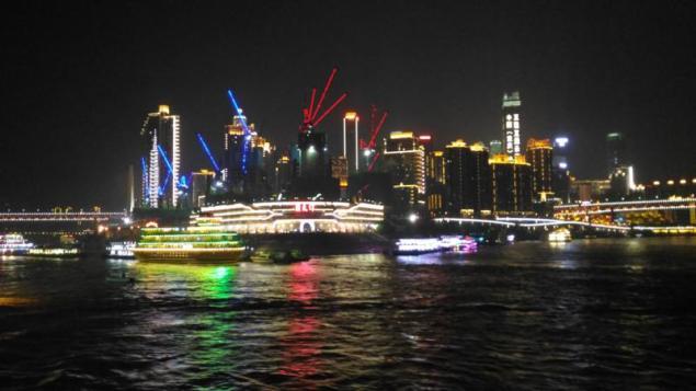 Leaving Chongqing at night