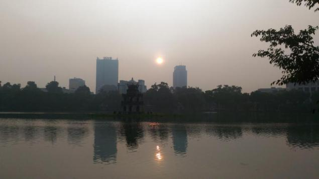 Dawn around Hoan Kiem