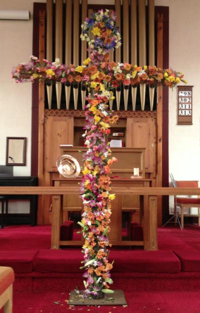 Easter cross at Newbold Verdon Church