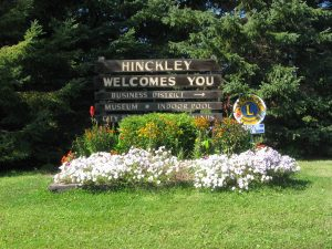 Hinckley welcome sign