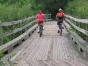 Biking along Willard Munger Trail