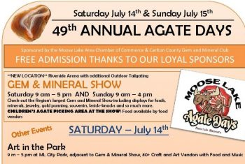 Agate Days Gem and Mineral Show in Moose Lake MN