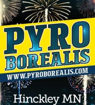 Pyro Borealis fireworks show in Hinckley MN. Event on July 7 at Hinckley West Side Park.