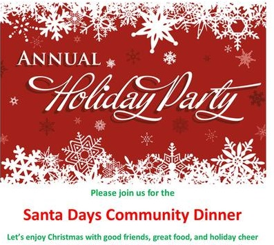 party and community dinner event in Hinckley MN during Christmas season