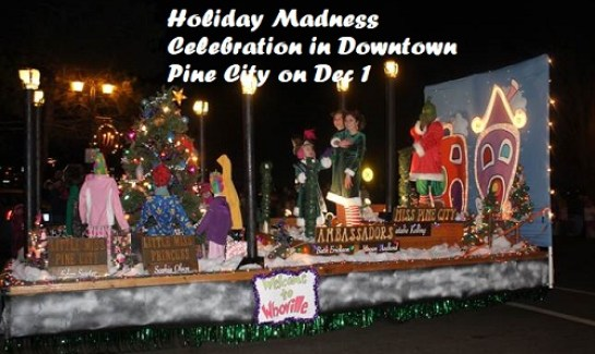 parades on Holiday Madness in Pine City MN